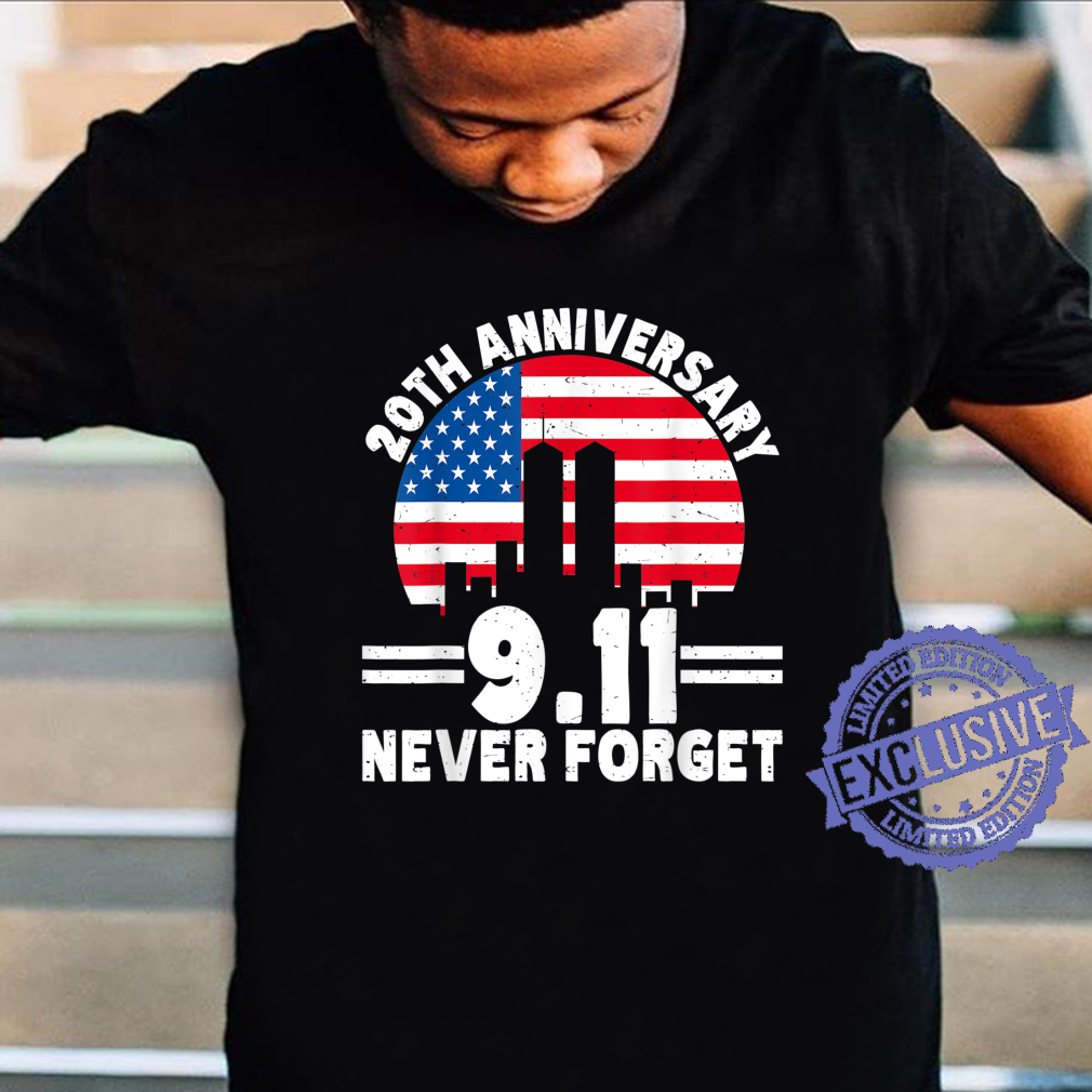 Never Forget 911 20th Anniversary Retro Patriot Day 2021 Shirt